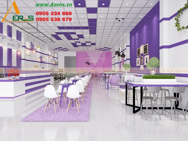 Thiết kế thi côngq quán trà sữa tại tphcm