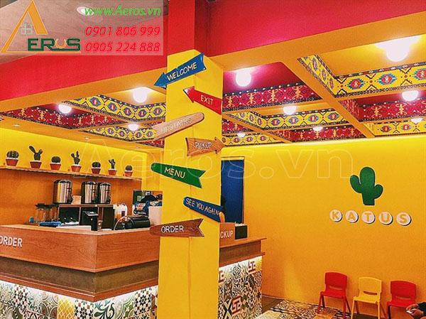 Thiết kế thi công quán trà sữa Katus tại quận 3