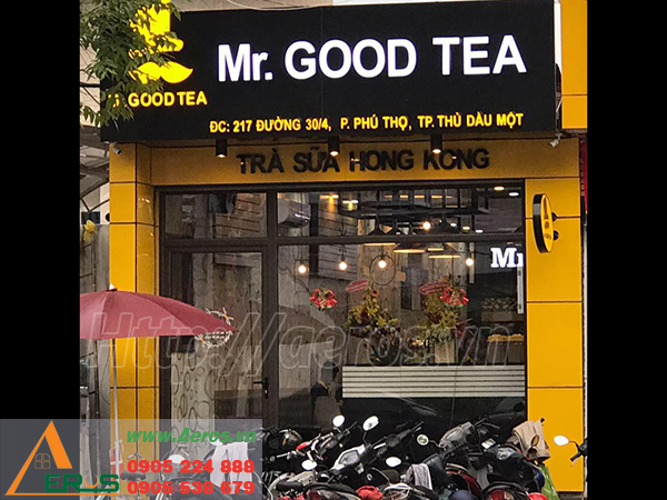 THiẾT KẾ THI CÔNG QUÁN TRÀ SỮA MR. GOOD TEA Ở THỦ DẦU MỘT,  BÌNH DƯƠNG