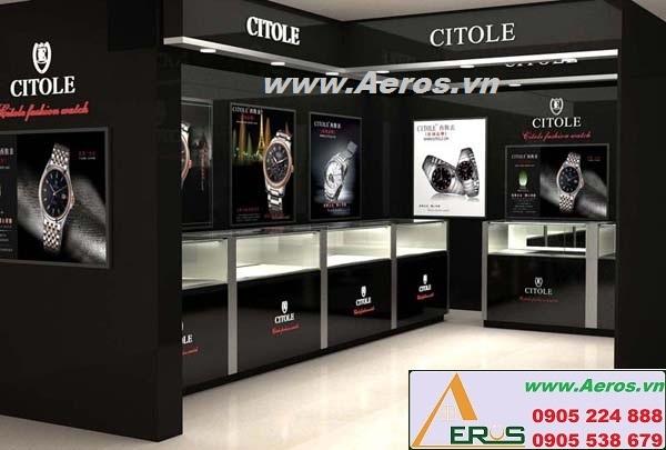 Thiết kế cửa hàng đồng hồ sành điệu và tinh tế