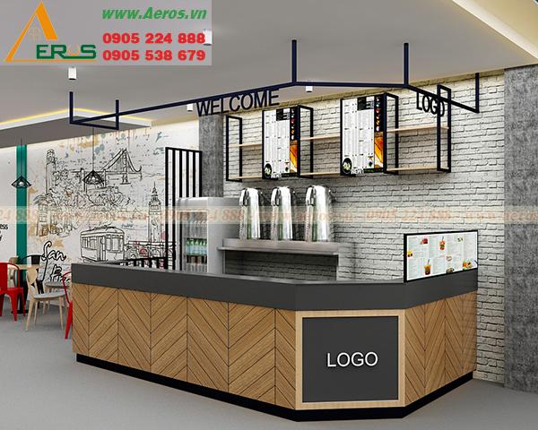 Thiết kế quán trà sữa của chị Liên