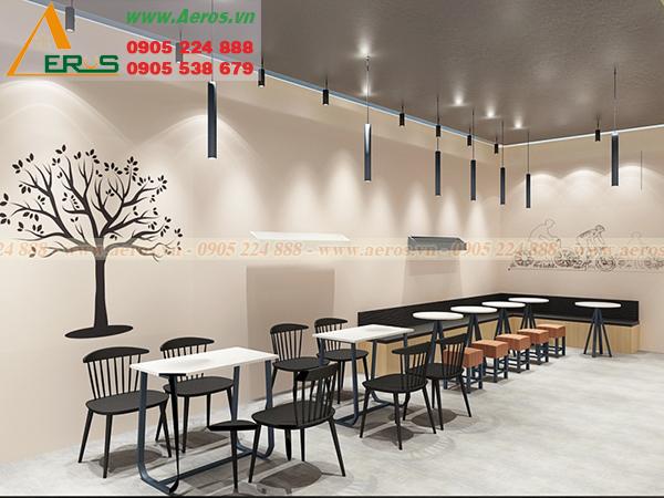 Hình ảnh thiết kế thi công quán trà sữa chị Dung tại quận 1, TPHCM
