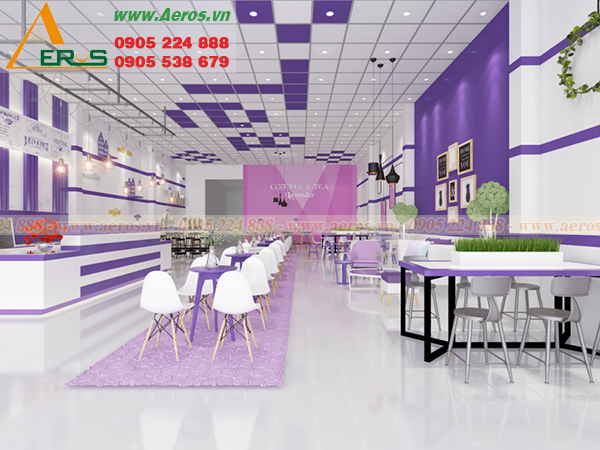 Thiết kế quán trà sữa của anh Lâm