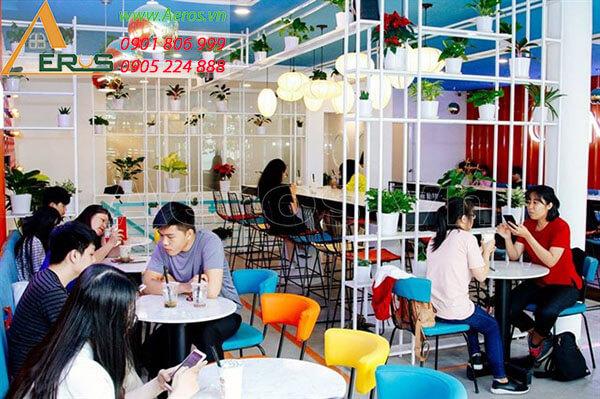 Thiết kế quán trà sữa đẹp - trà sữa Chamichi của anh Hưng