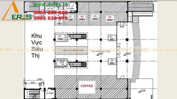 Hình ảnh hiện trạng quán trà sữa anh Trung trong TTTM U MART Vũng Tàu