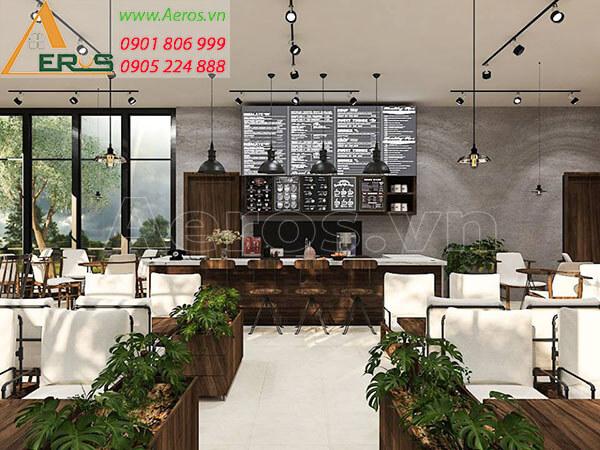 Thiết kế quán trà sữa hiện đại theo yêu cầu của chị Oanh - trà sữa Tastea