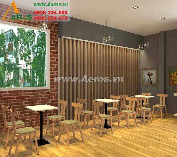 Thiết kế thi công nội thất quán trà sữa anh Huy, quận 3, TP. HCM