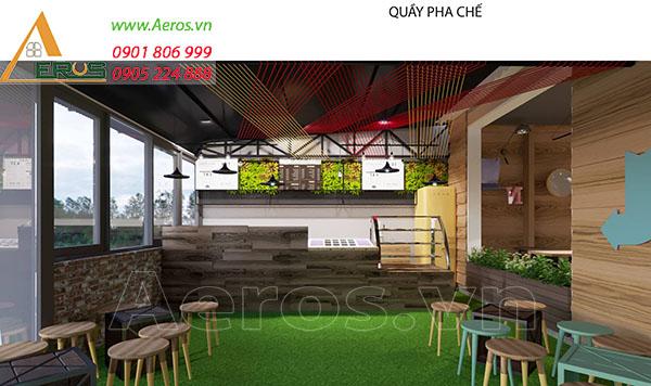 Thiết kế quán trà sữa đẹp của chị Nhung quận 2 trà sữa 146