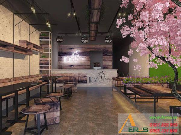 Thiết kế quán trà sữa ngồi bệt của anh Hòa Tân Bình - 1102 Tea & Blies