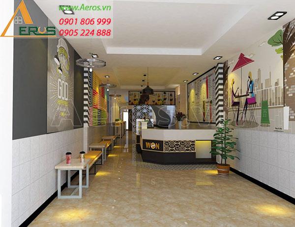 Thiết kế quán trà sữa Won Cha tại Bình Tân