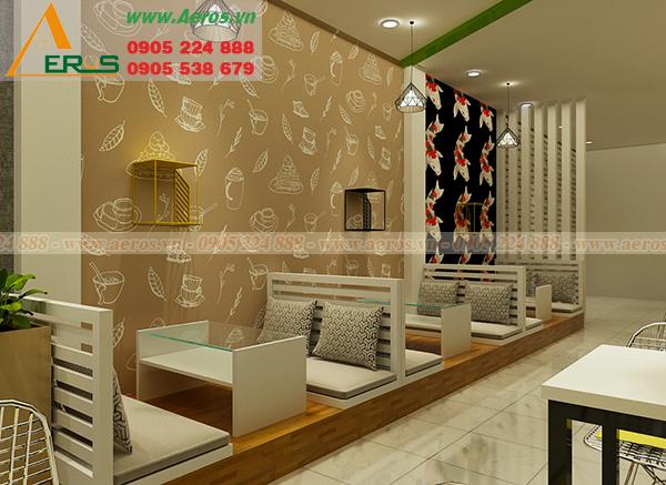 Hình ảnh thiết kế thi công nội thất quán trà sữa chị Hà tại quận Gò Vấp, TP. HCM