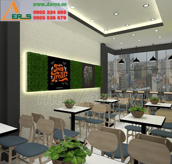 Hình ảnh thiết kế thi công nội thất cho quán trà sữa Tealand, Bình Dương
