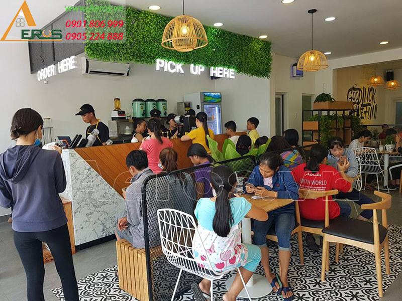 Hình ảnh thiết kế nội thất quán trà sữa DINTA tại Củ Chi, TPHCM