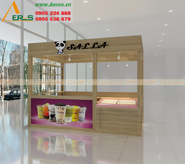 Hình ảnh thiết kế quán trà sữa anh Trung trong TTTM U MART Vũng Tàu