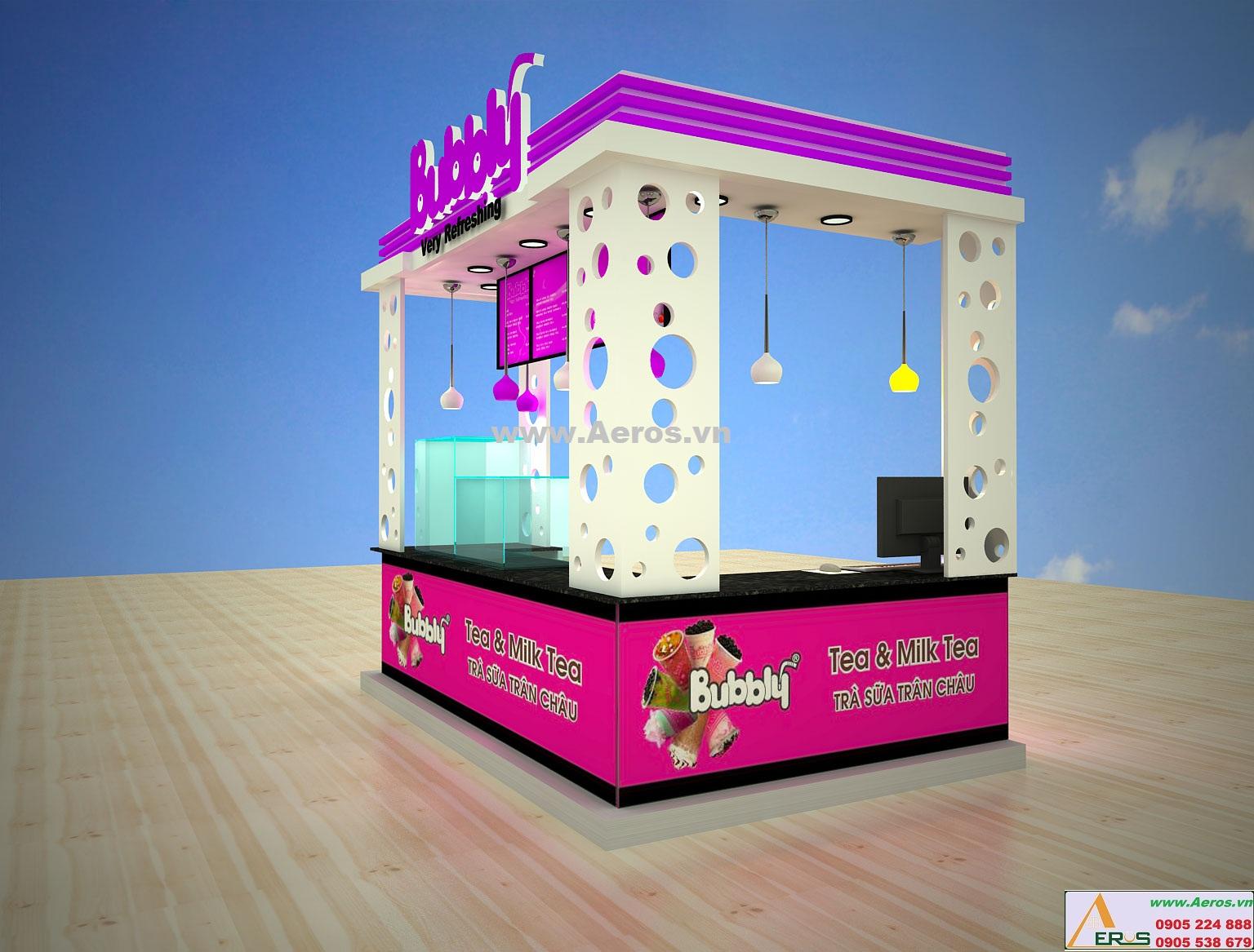 Hình ảnh thiết kế thi công quán trà sữa BUBBY