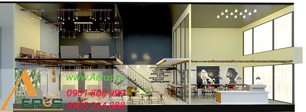 Thiết kế quán trà sữa 2 tầng - trà sữa Sala tại Củ Chi