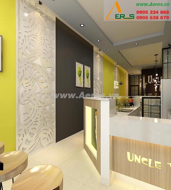 Thiết kế thi công nội thất quán trà sữa Uncle Tea, quận 5, TP. HCM