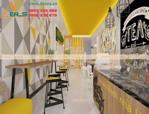 Hình ảnh thiết kế quán trà sữa Oanh Đặng tại Vũng Tàu.