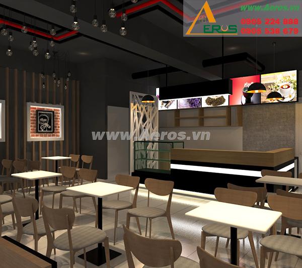 Hiện trạng thiết kế nội thất quán trà sữa, chị Hòa, quận 7, TP. HCM