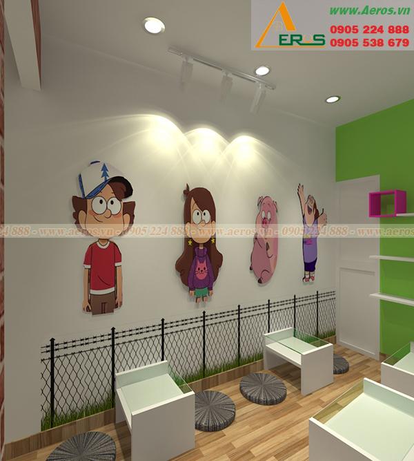 Hình ảnh thiết kế thi công quán trà sữa chị Châu tại quận Gò Vấp, TPHCM