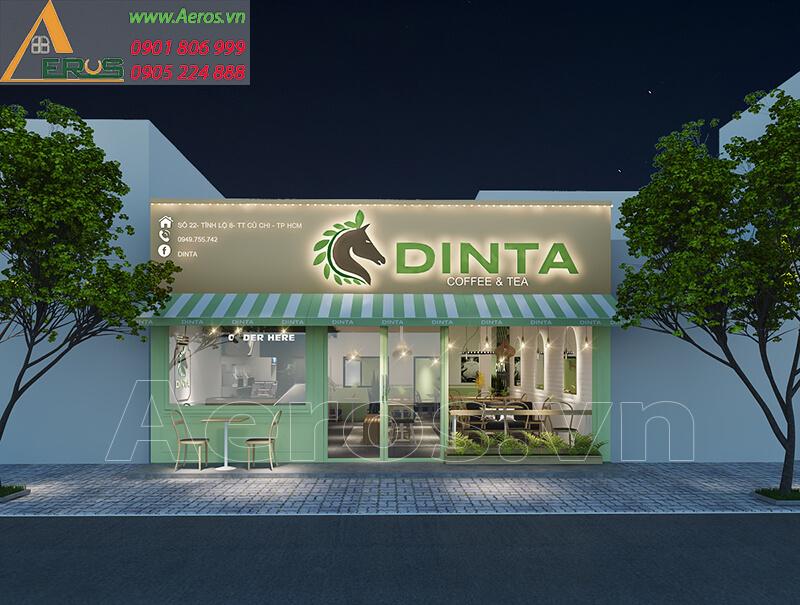 Hình ảnh thiết kế quán trà sữa DINTA tại Củ Chi, TPHCM