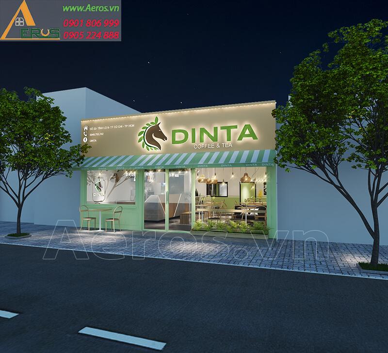 Hình ảnh thiết kế bảng hiệu quán trà sữa DINTA tại Củ Chi, TPHCM