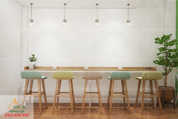 Thiết kế quán trà sữa đơn giản theo yêu cầu anh Khoa tại Bình Dương