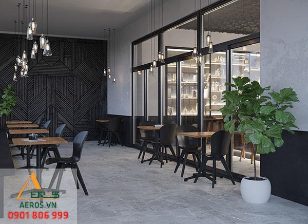 quán trà sữa hiện đại của anh Hùng với không gian thoáng đãng