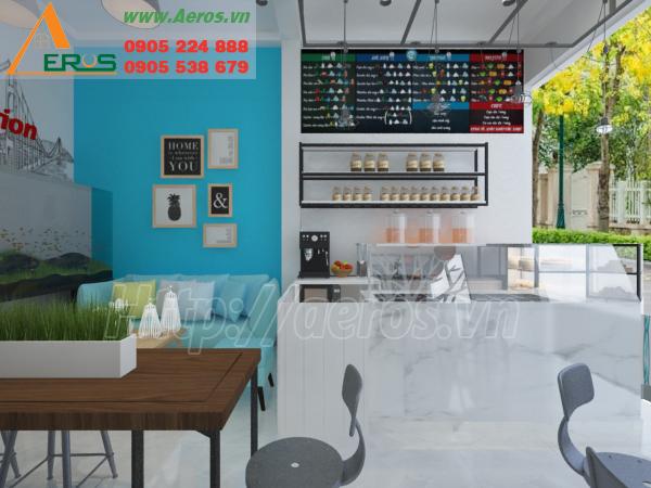 Hình ảnh thiết kế nội thất quán trà sữa HP quận Tân Phú, TPHCM