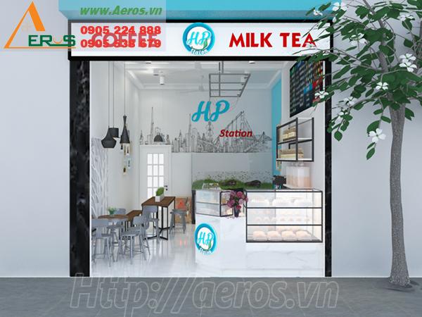 Hình ảnh thiết kế quán trà sữa HP ở quận Tân Phú, TPHCM