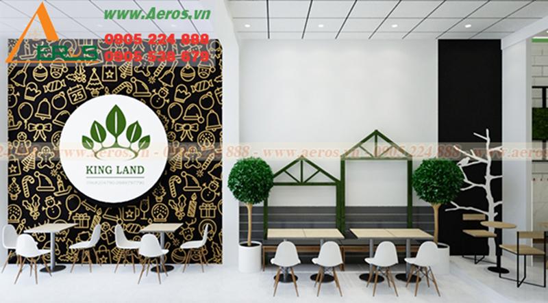 Hình ảnh thiết kế nội thất quán trà sữa King Land ở tại Tân An, Long An