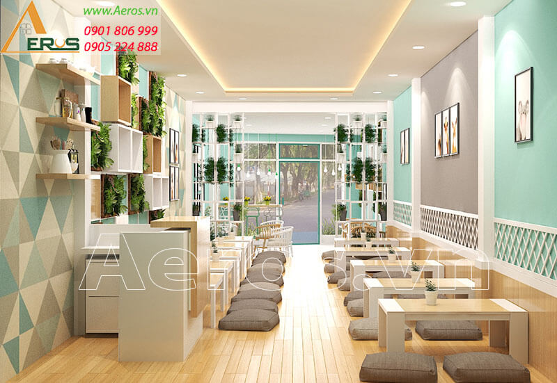 Thiết kế quán trà sữa Mùi tại Tiền Giang