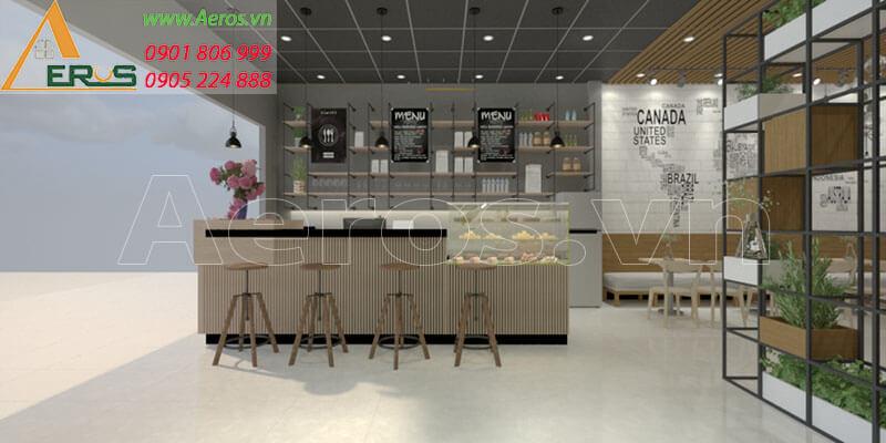 Hình ảnh thiết kế thi công nội thất quán trà sữa My cha tại Long Khánh, Đồng Nai