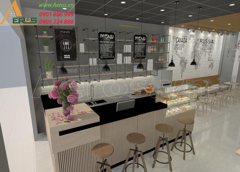 Hình ảnh thiết kế thi công quán trà sữa My cha tại Long Khánh, Đồng Nai