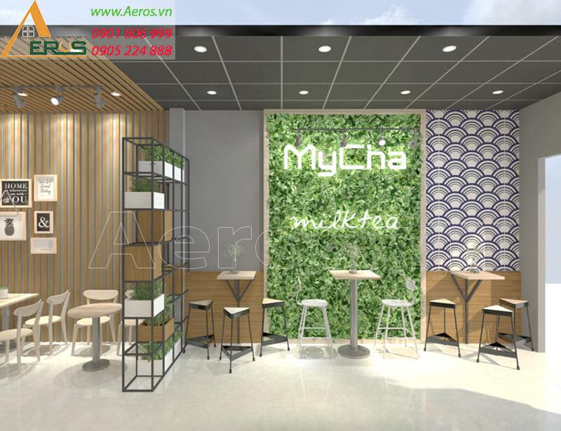 Thiết kế thi công quán trà sữa My Cha tại Long Khánh, Đồng Nai