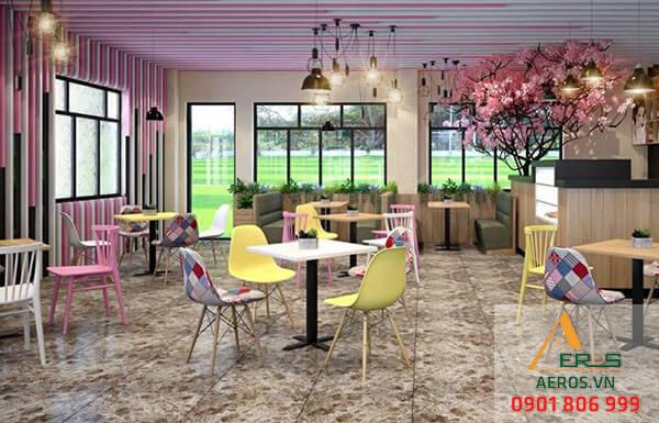 Thiết kế quán trà sữa nhỏ của chị Hương tuy nhỏ nhưng vẫn đem tới yếu tố thoải mái cho khách hàng