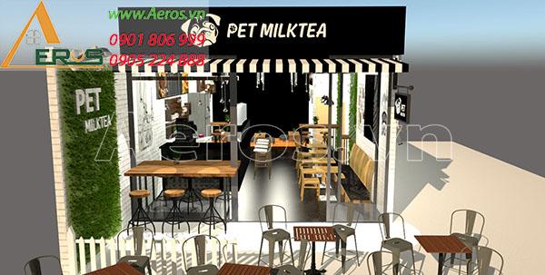 Thiết Kế Quán Trà Sữa Hiện Đại - Trà Sữa Pet Milktea Đồng Nai