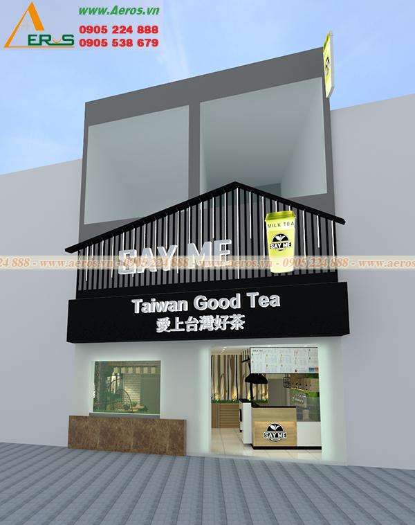Hình ảnh thiết kế quán trà sữa SAY ME