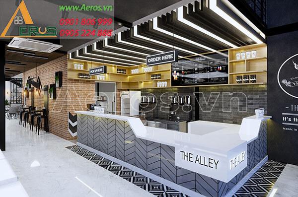 Thiết kế quán trà sữa hiện đại - The Alley tại Hà Nội