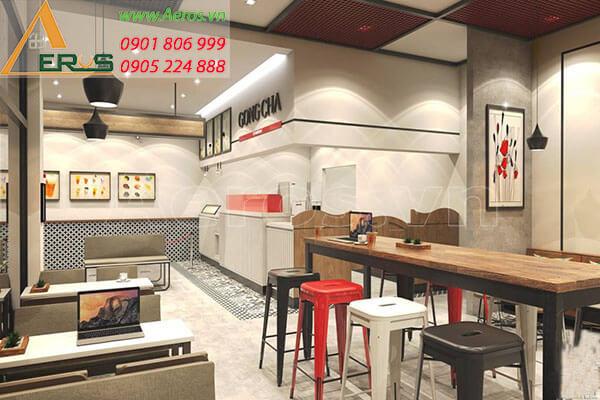Thiết kế quán trà sữa GongCha quận 5