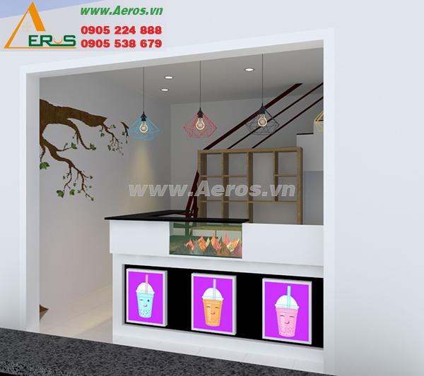 Thiết kế nội thất quán trà sữa chị Nguyên, quận 12, TP. HCM