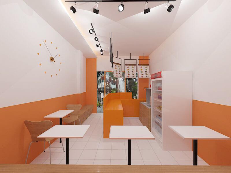 Hình ảnh thiết kế thi công quán trà sữa anh Minh ở quận Gò Vấp