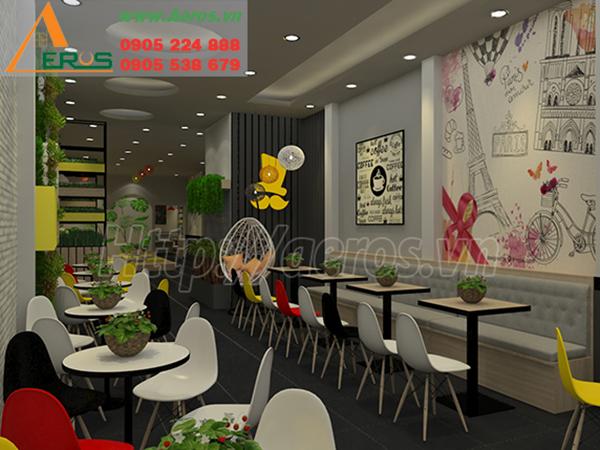 thiết kế nội thất quán trà sữa Mr. Good Tea ở Bình dương