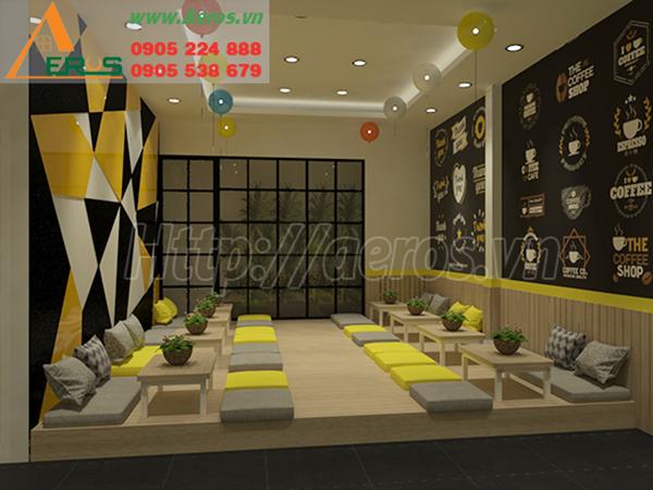 thiết kế nội thất quán trà sữa Mr Good Tea ở Thủ Dầu MỘT, BÌNH DƯƠNG