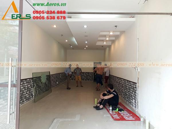 Hình ảnh hiện trạng cần thiết kế thi công quán trà sữa anh Sáng tại quận 5, TPHCM