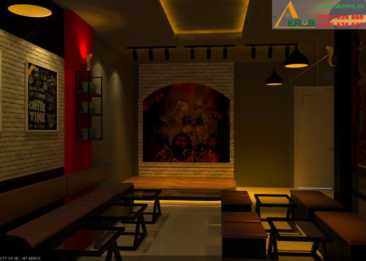 Hình ảnh thiết kế thi công quán trà sữa anh Mạnh quận Tân Phú, TPHCM