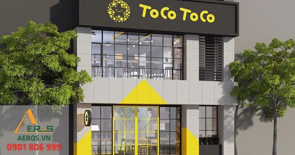 Thiết kế quán trà sữa Tocotoco | Thi công trọng gói tại TP.HCM