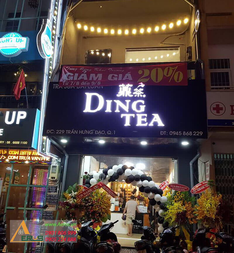 Thiết kế quán trà sữa đơn giản và thu hút - Ding Tea quận 1