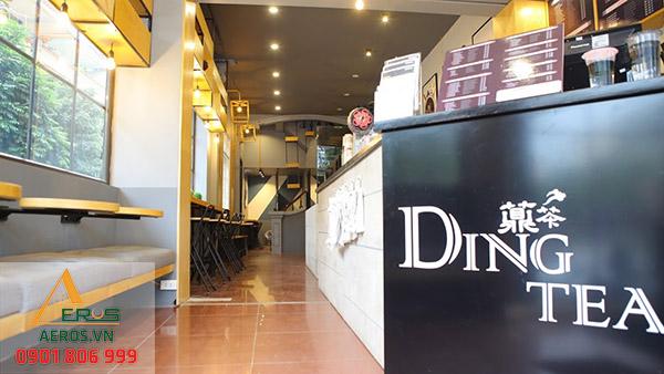 Thiết kế quán trà sữa Ding Tea | Thi công trọn gói tại TP.HCM