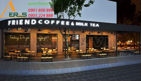 Thiết kế quán trà sữa Friend coffee and Milk tea tại quận 3